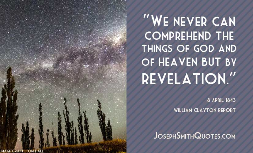 comprehend things of God by revelation