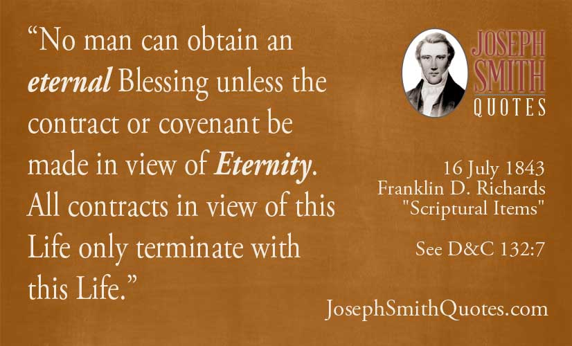 eternal blessing in view of eternity