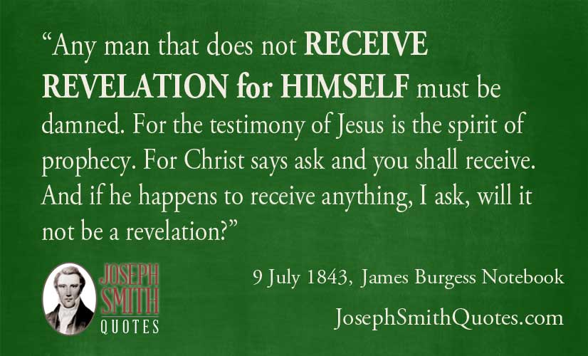 man must receive revelation for himself