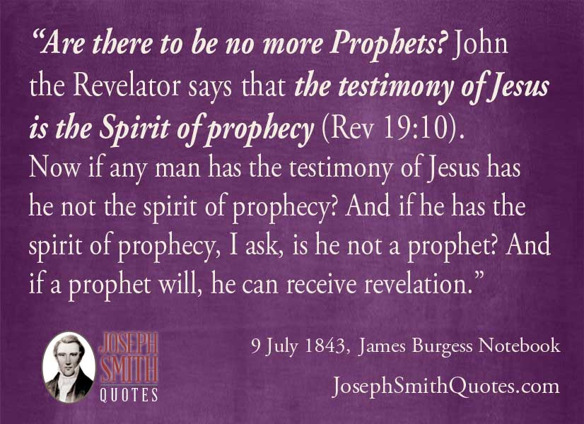 testimony of jesus is the spirit of prophecy