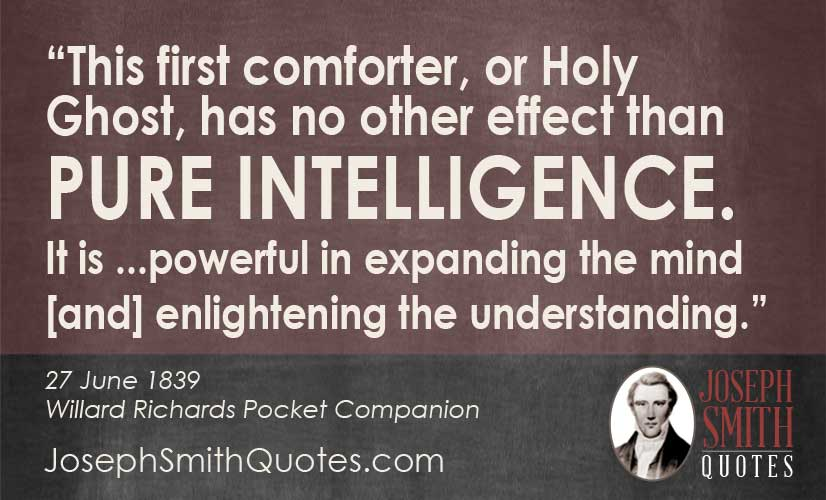 Holy Ghost has no other effect than pure inteligence