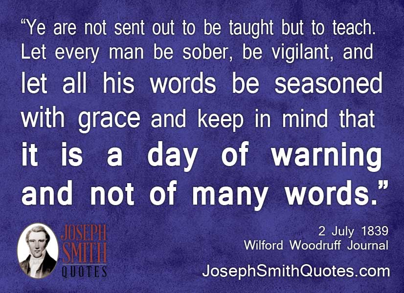 a day of warning and not of many words