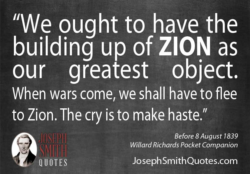 building up of zion as our greatest object