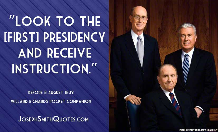 look to the first presidency