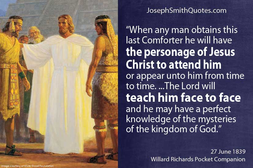 personage of Jesus Christ to attend him
