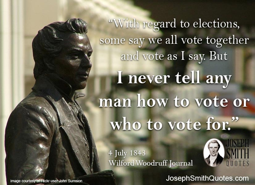 I never tell any man how to vote